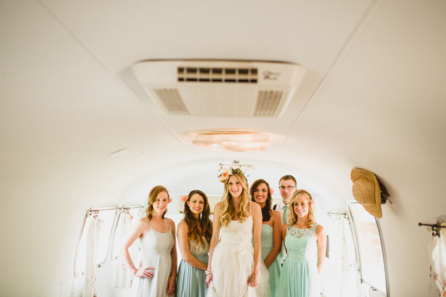 bridesmaids in airstream