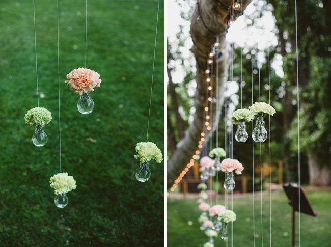 hanging flower vessles