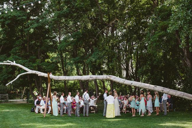branch ceremony decor