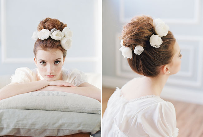 flowers for your hair bun