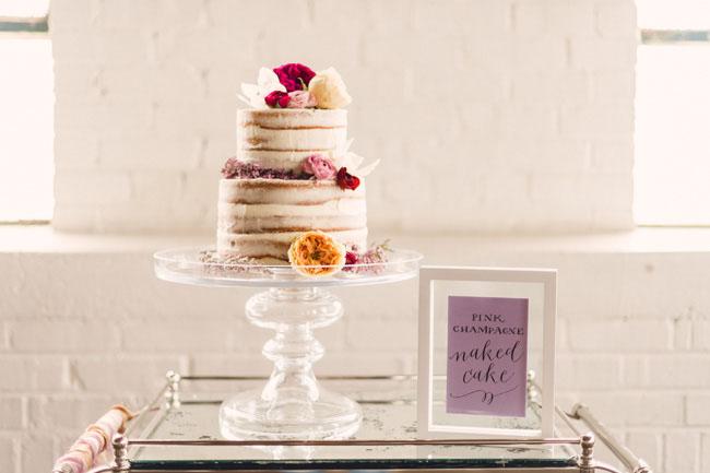 naked valentines cake