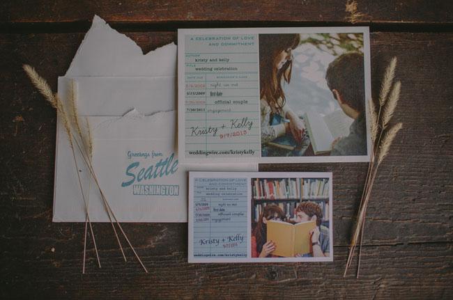 postcard style invitation