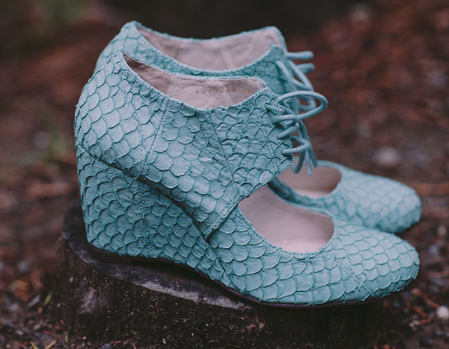 blue snakeskin wedges