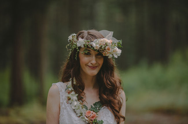 flower crown bride