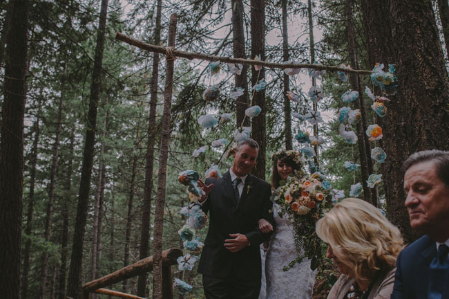 camp wedding ceremony