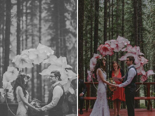 camp wedding ceremony