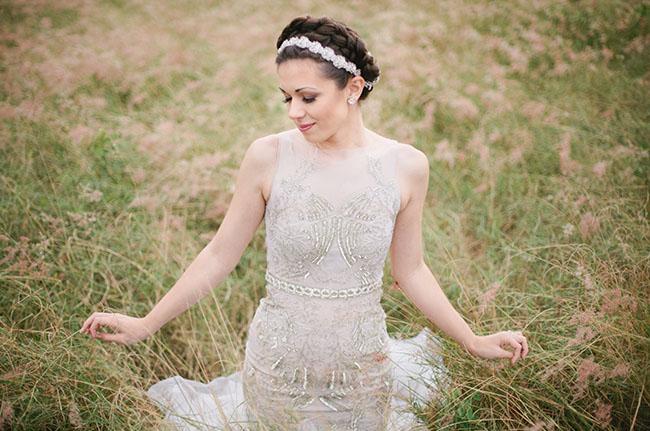 beaded dress bride