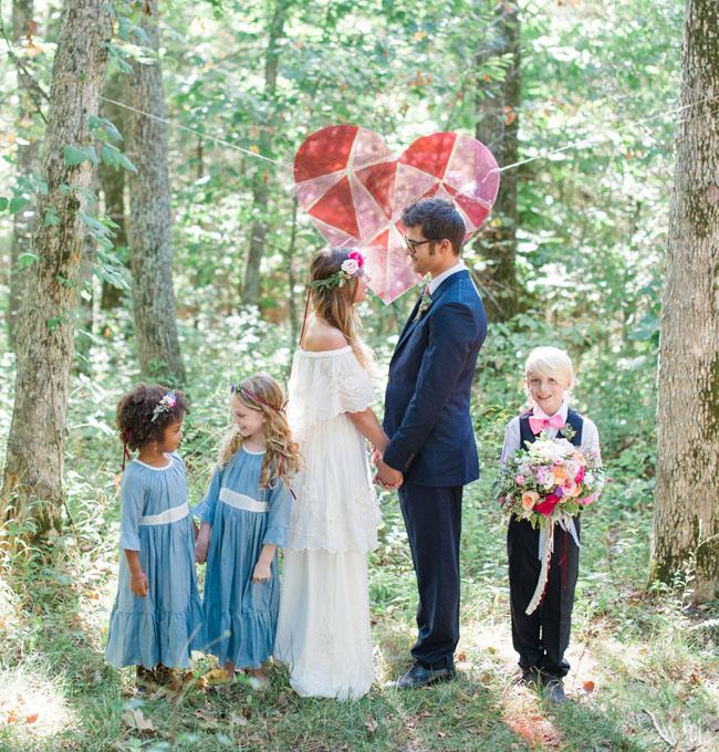 Woodland Heart Wedding Inspiration