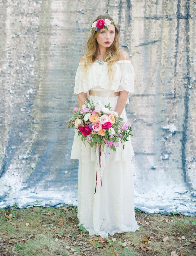 bohemian valentine bride