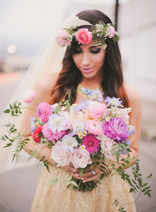 whimsical pink bouquet