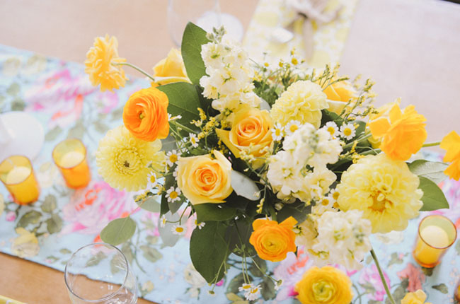 yellow florals
