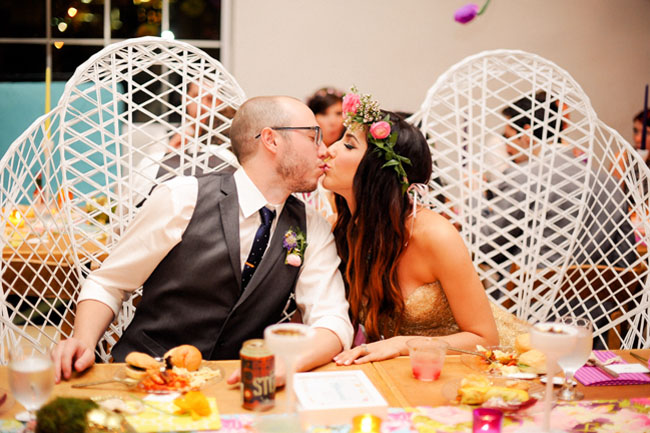 winged chairs for bride and groom