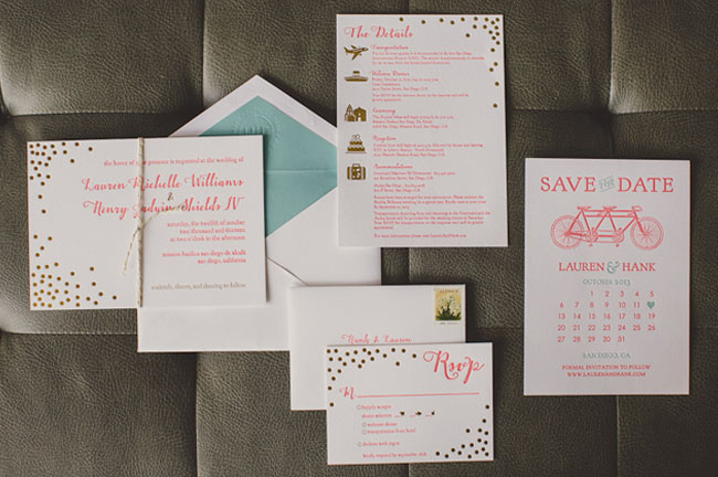 gold dots invitation