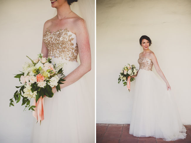 gold brides dress