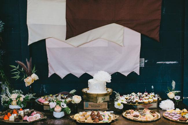 banner dessert bar