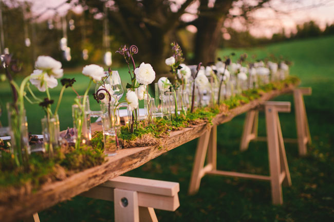 Modern eco friendly wedding inspiration Environmentally friendly decorations