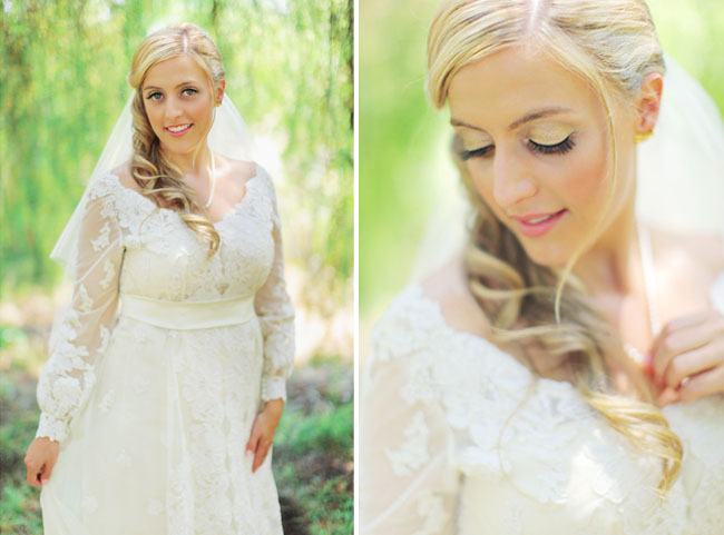 long sleeved lace bride