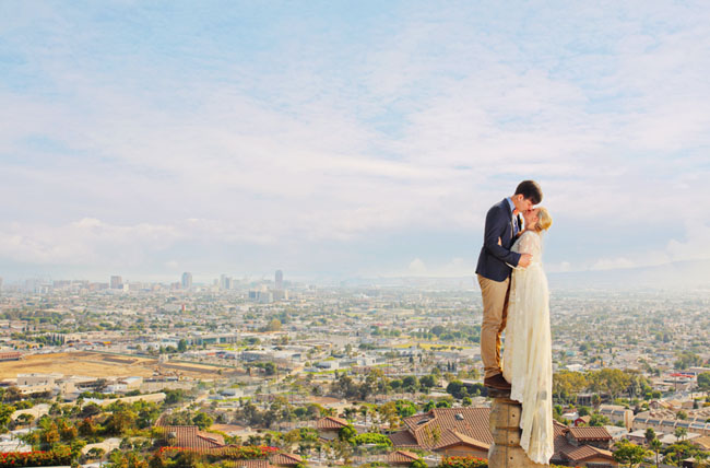 Bride And Groom With A View
