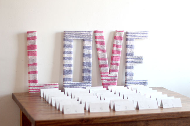 DIY Ombre Yarn Wrapped Love Letters