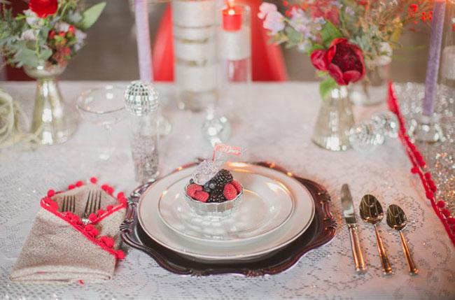 dessert plate setting