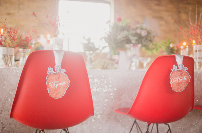 strawberry chair decor