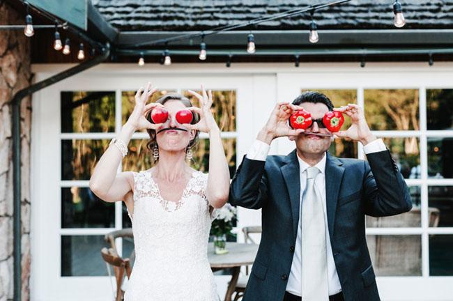 tomato bride and groom