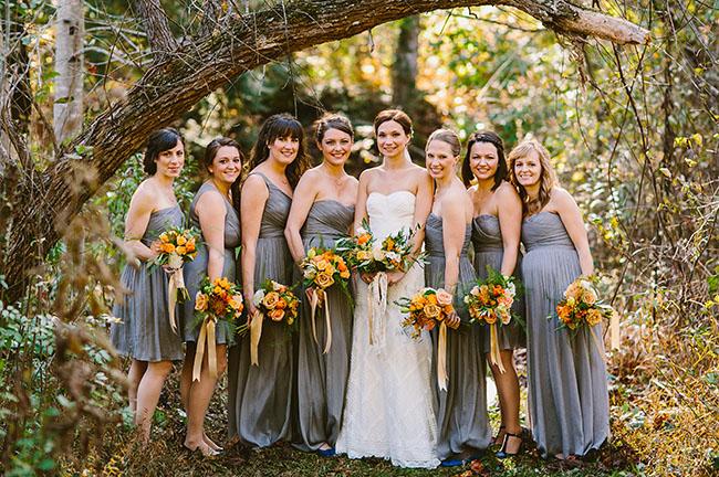 Western Wedding Bridesmaid Dresses 12 Luxury gray bridesmaids