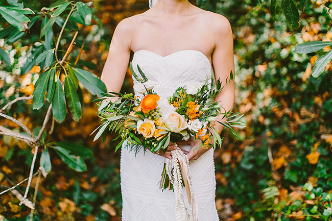 orange leafy bouquet