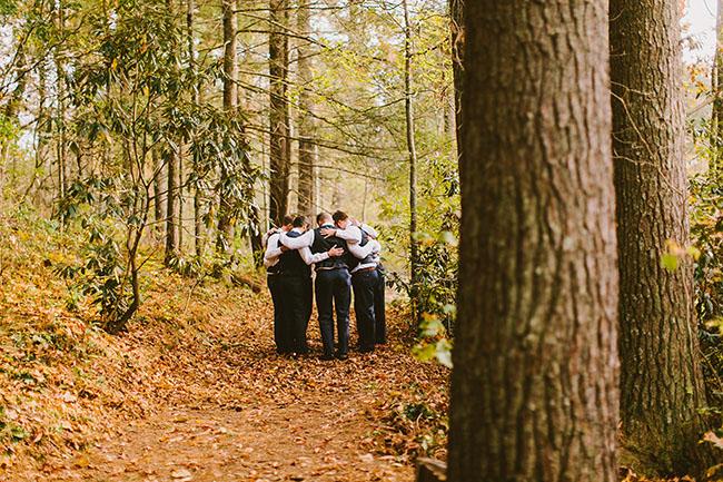 groomsmen huddle