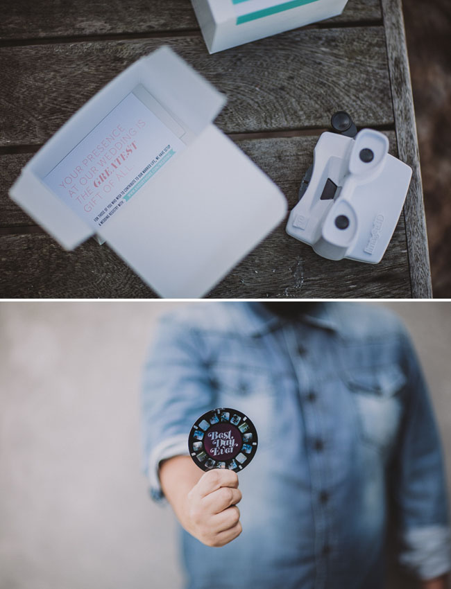 camera wedding invitation