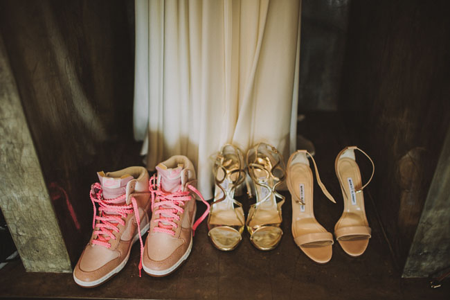3 pairs of wedding shoes
