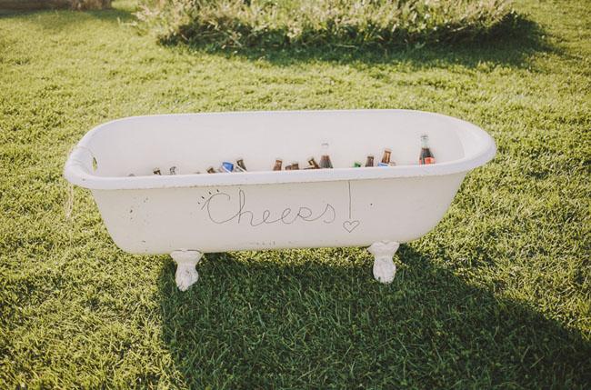 beer in tub