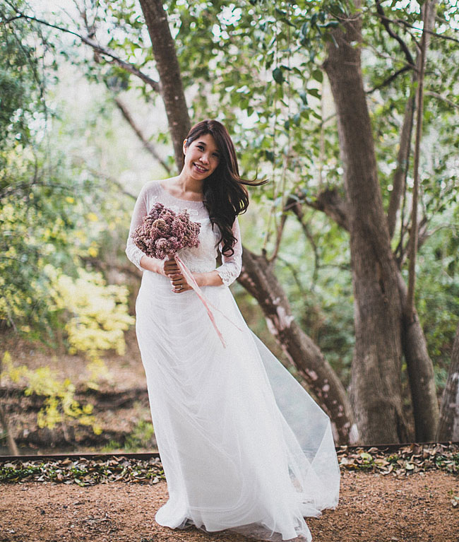 dotted lace bride