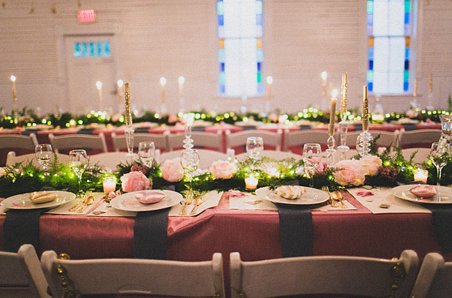 pink tablescapes