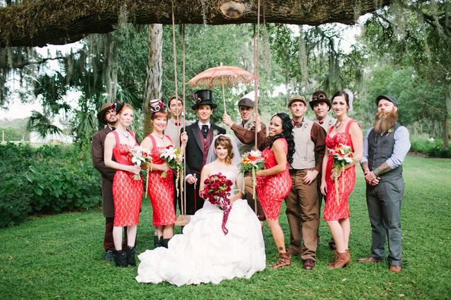 Victorian Steampunk Inspired Wedding Niki Leo