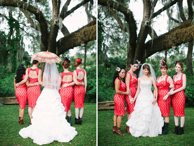 steampunk bridesmaids