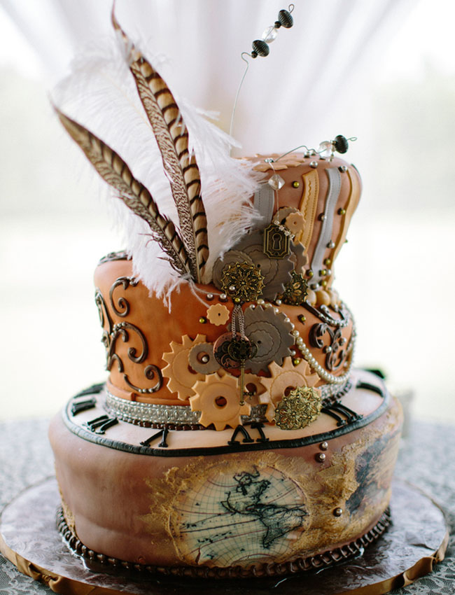 steampunk wedding cake