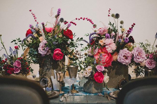 gem colored florals