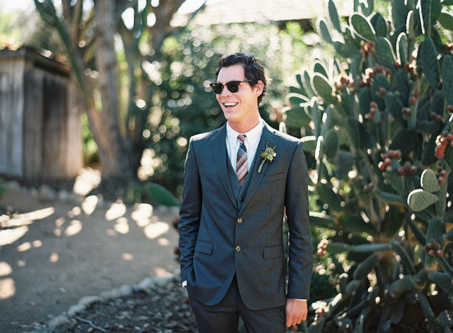 groom with sunglasses