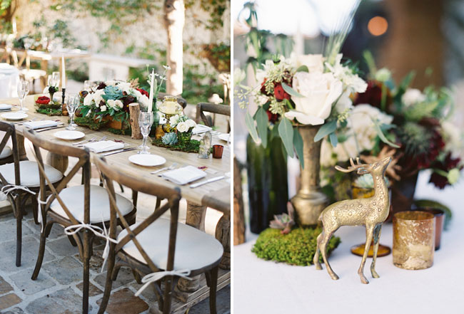 gold fauna table decor