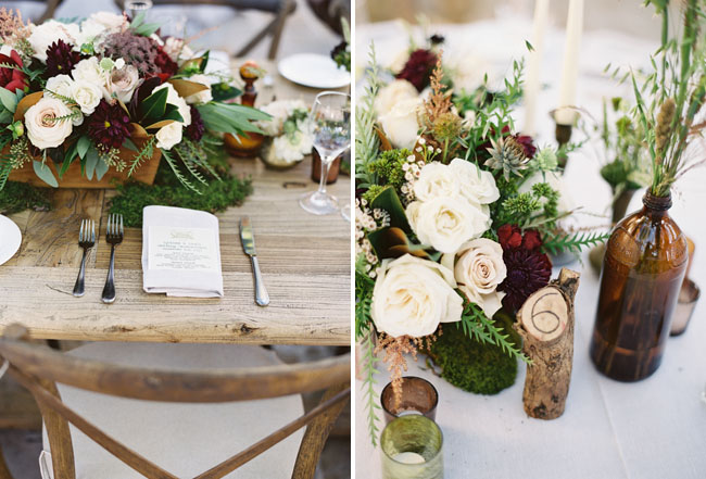 wooden stump table numbers