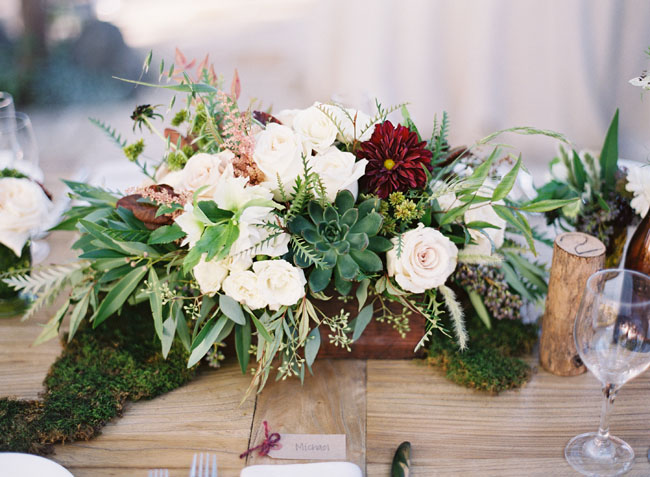 red and green centerpiece