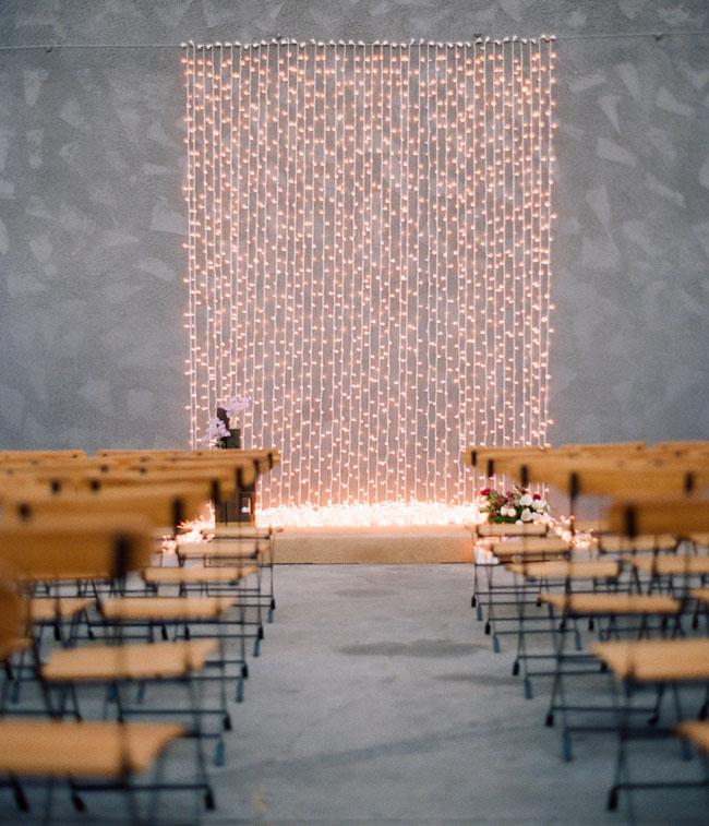 Unique LA space with string lights