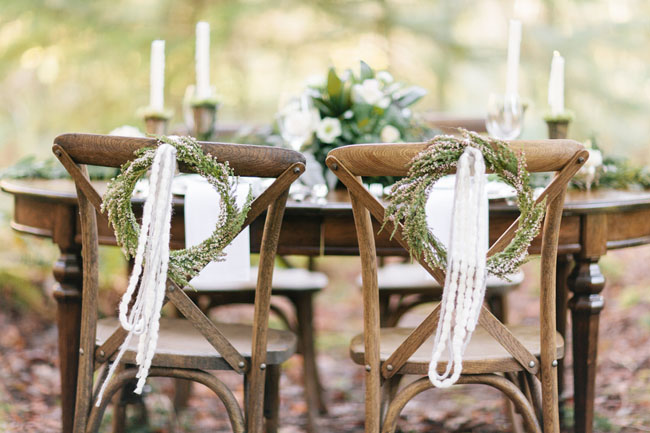 wreath chair decor