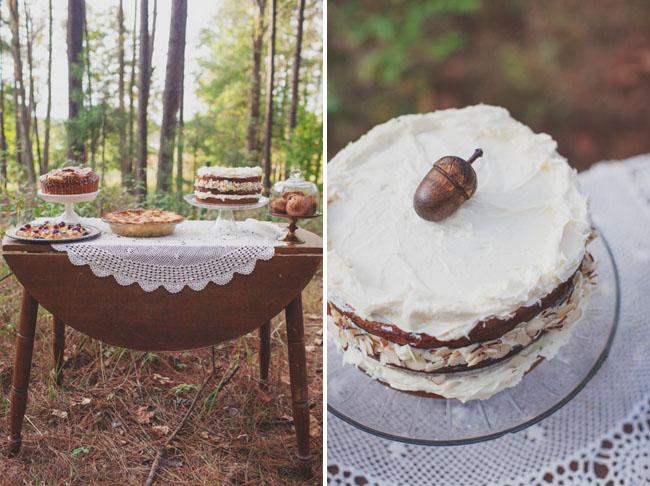 acorn cake topper