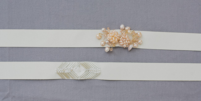 DIY Beaded Sash - Finished Closeup Duo