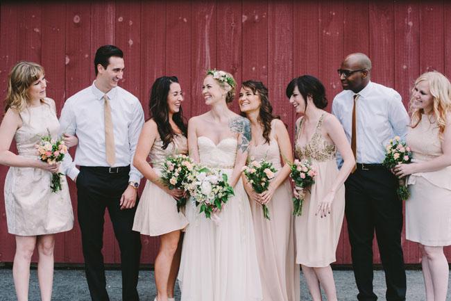 brides and men maids