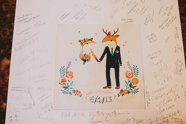 deer guest book