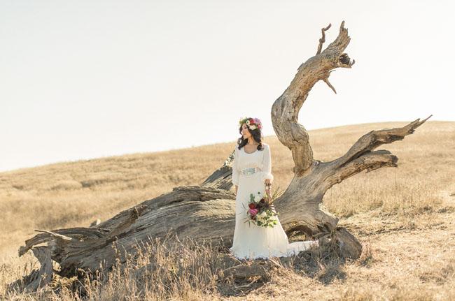 bohemian glam bride