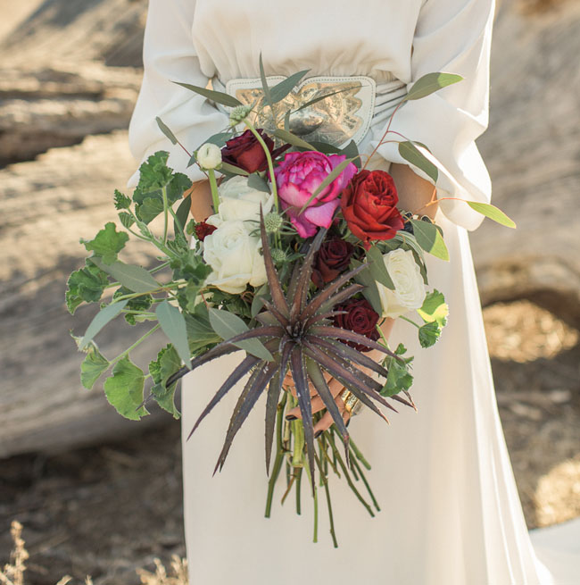 bohemian glam bouquet